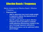 effective reach frequency