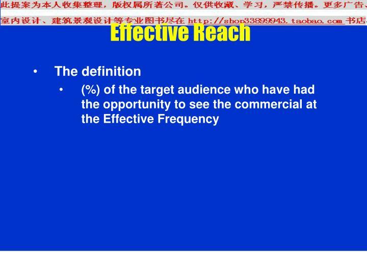 Effective Reach