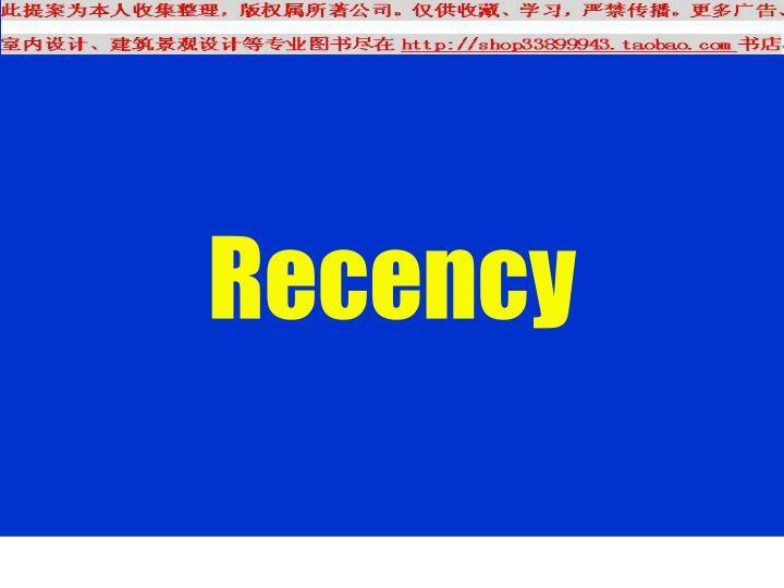 Recency