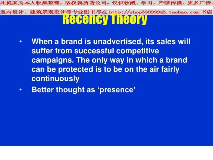 Recency Theory