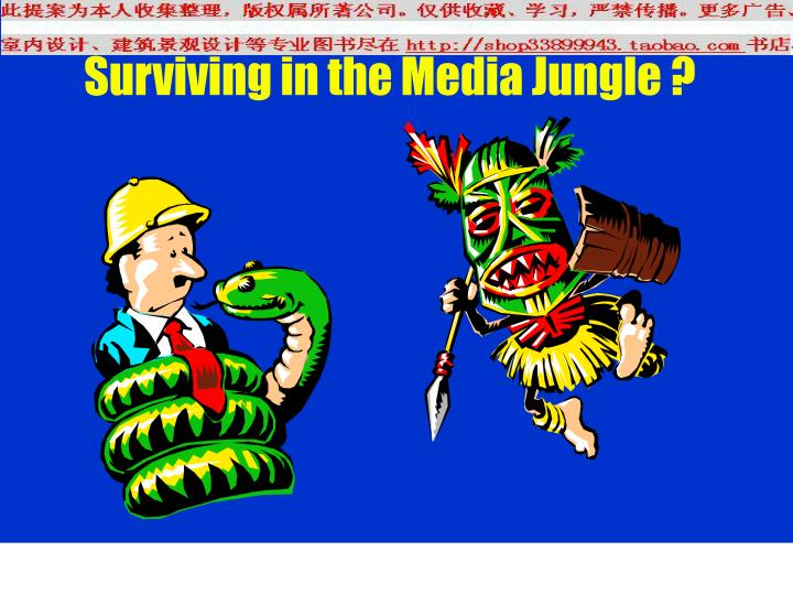 Surviving in the Media Jungle ?