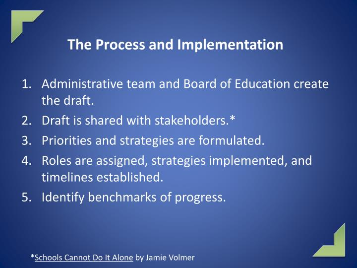 The Process and Implementation