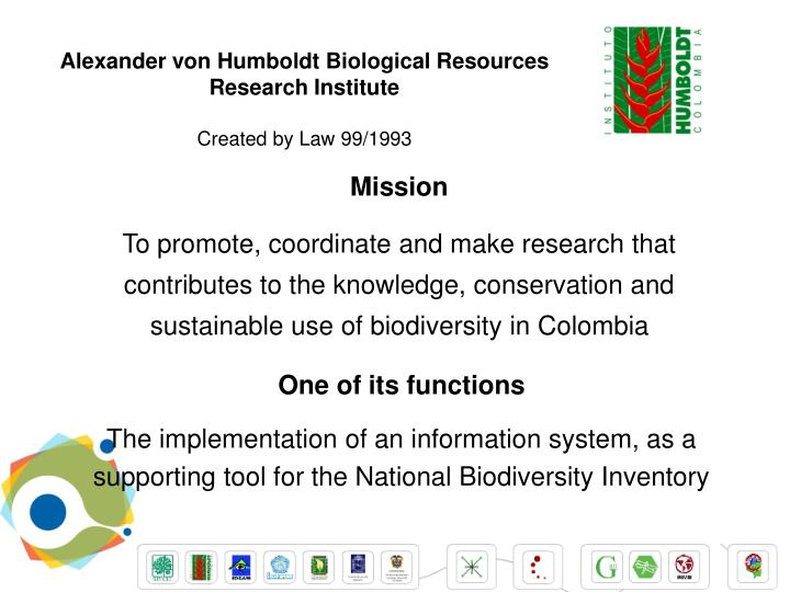 Alexander von Humboldt Biological Resources Research Institute
