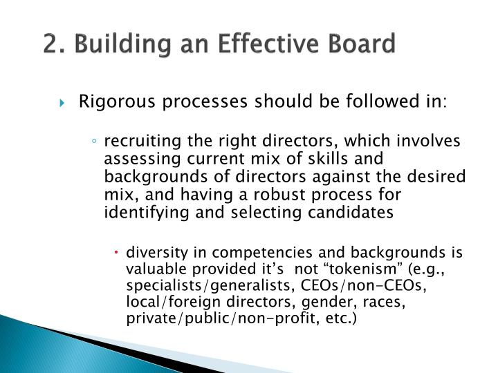 2. Building an Effective Board