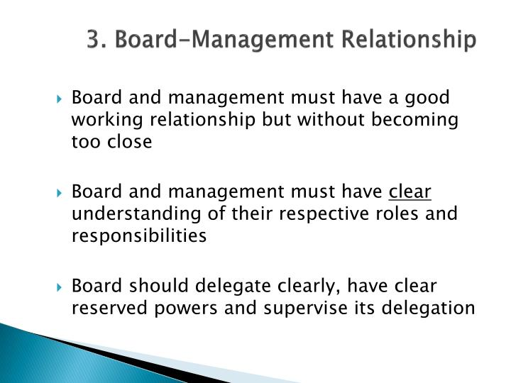 3. Board-Management Relationship