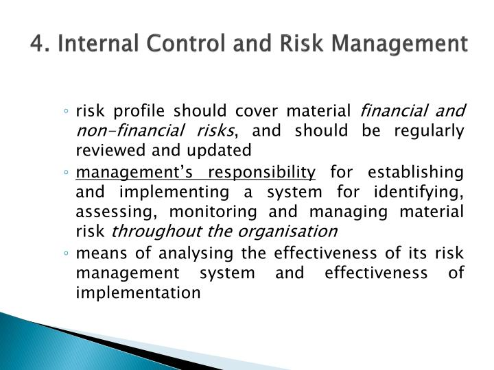 4. Internal Control and Risk Management