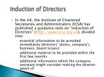 induction of directors