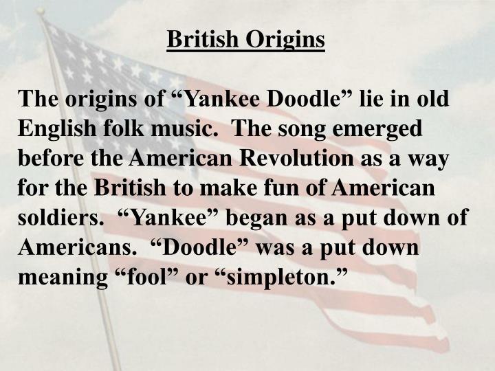 British Origins
