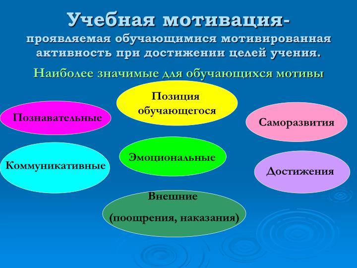 Учебная мотивация-