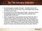 1b the january indicator