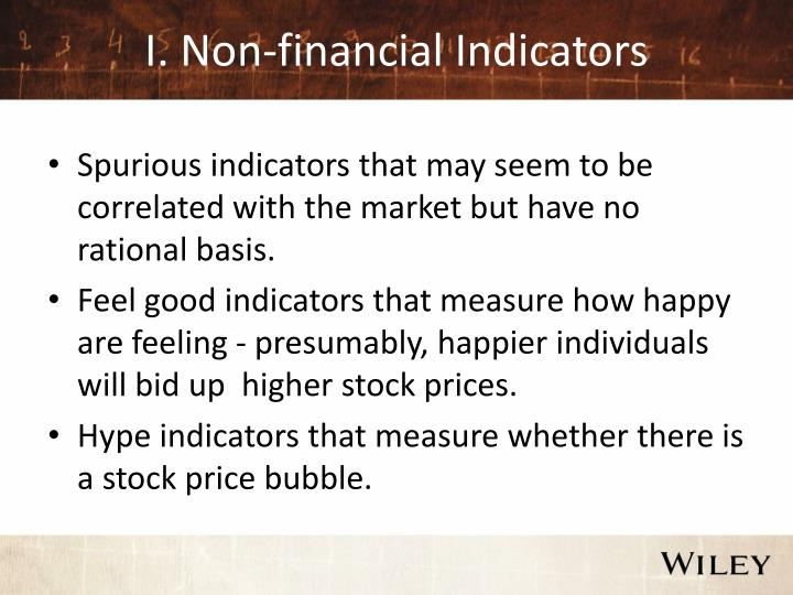 I. Non-financial Indicators