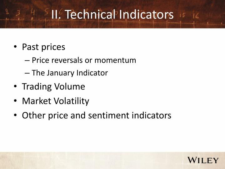 II. Technical Indicators