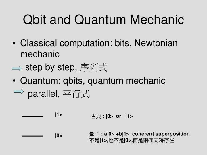 Qbit and Quantum Mechanic