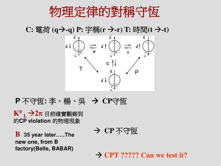 物理定律的對稱守恆