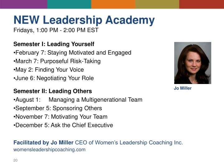 NEW Leadership Academy