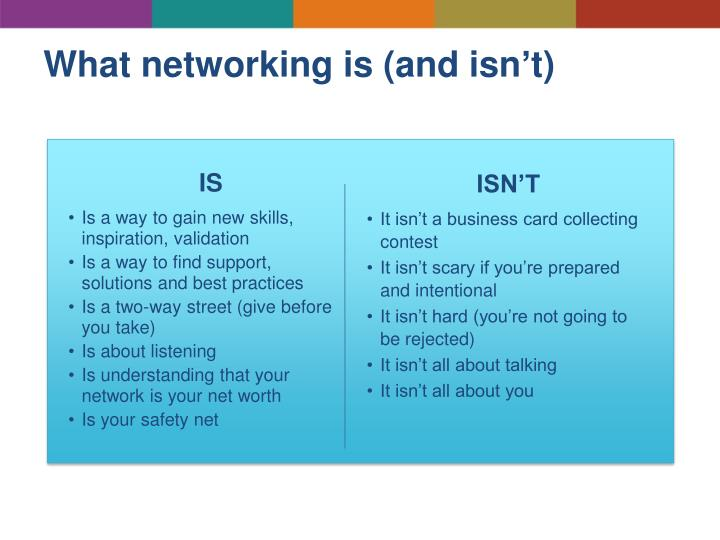 What networking is (and isn