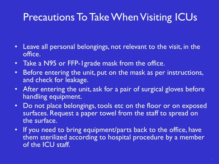 Precautions To Take When Visiting ICUs