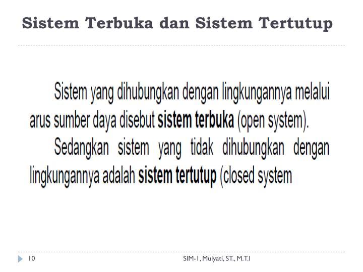 Sistem Terbuka dan Sistem Tertutup