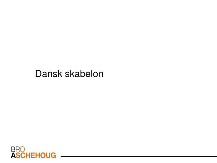 Dansk skabelon