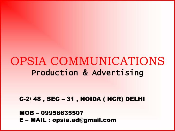 OPSIA COMMUNICATIONS