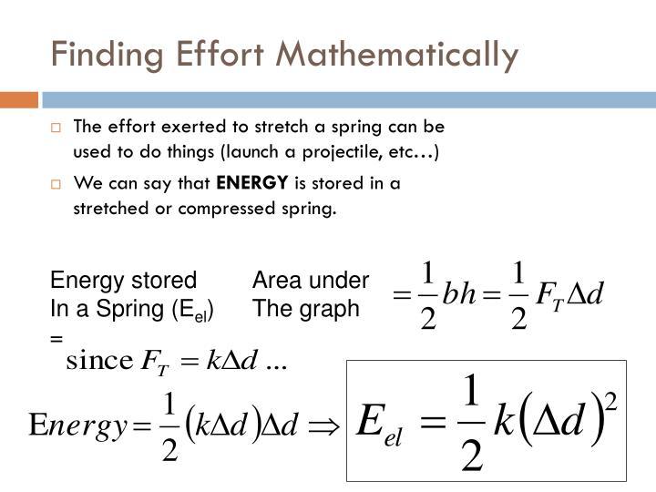 Finding Effort Mathematically