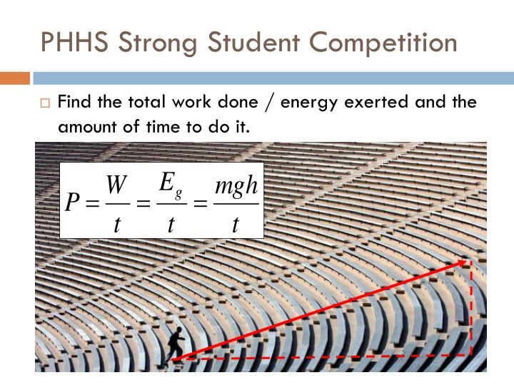 PHHS Strong Student Competition