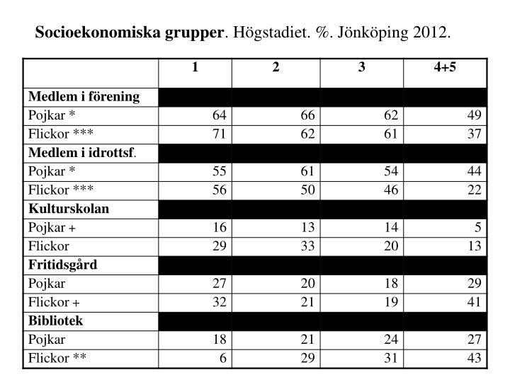 Socioekonomiska grupper