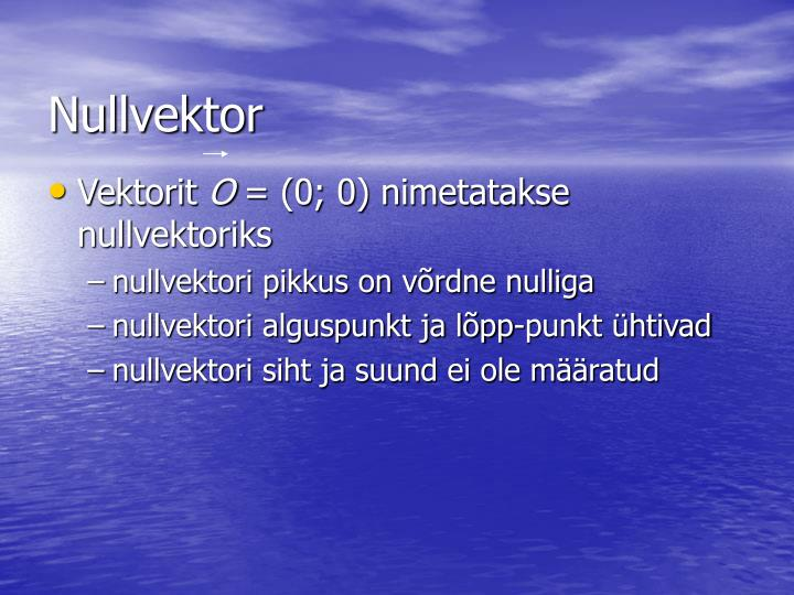 Nullvektor