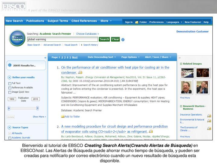 Bienvenido al tutorial de EBSCO