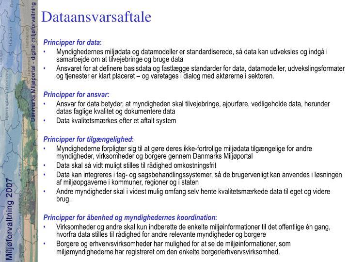 Dataansvarsaftale