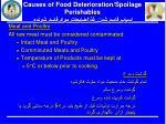 causes of food deterioration spoilage perishables