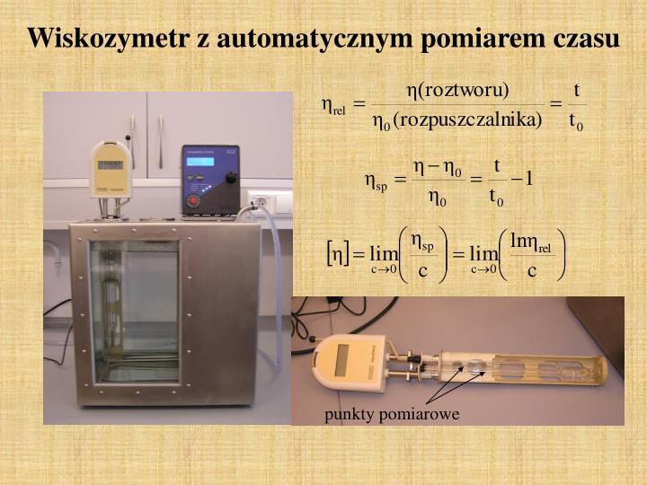 Wiskozymetr z automatycznym pomiarem czasu