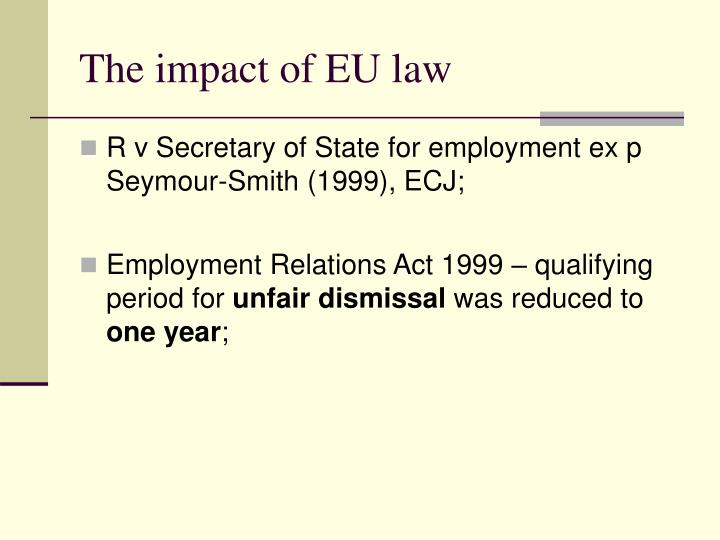 The impact of EU law