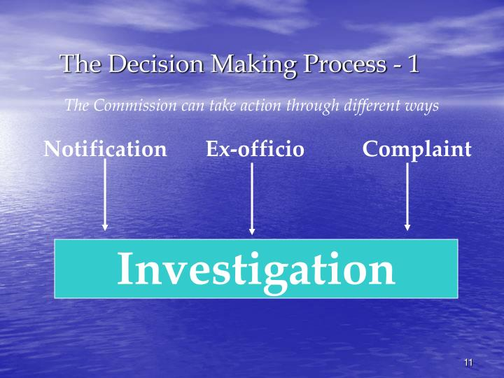 The Decision Making Process - 1