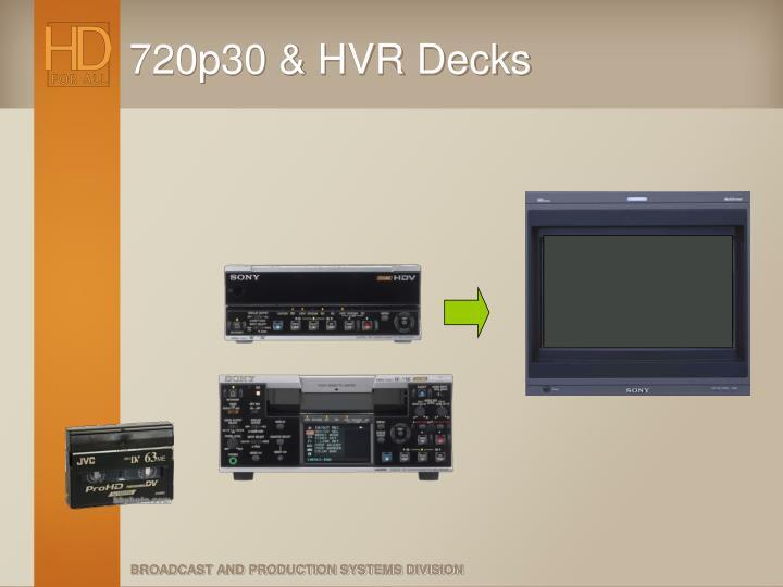 720p30 & HVR Decks