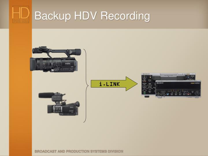 Backup HDV Recording