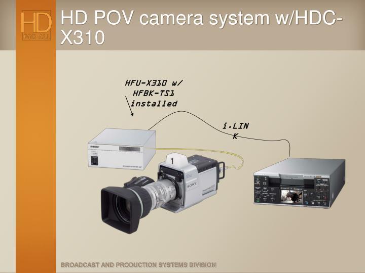 HD POV camera system w/HDC-X310