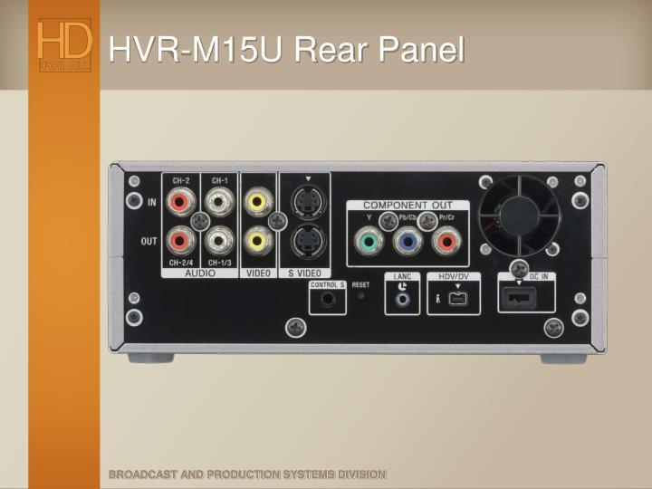 HVR-M15U Rear Panel