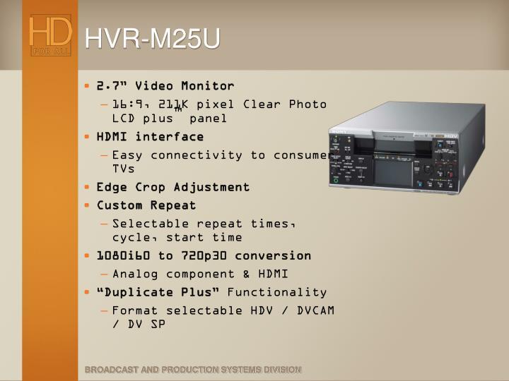 HVR-M25U