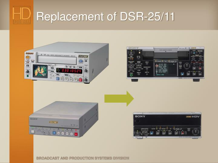 Replacement of DSR-25/11