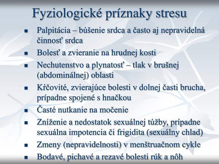 Fyziologické príznaky stresu