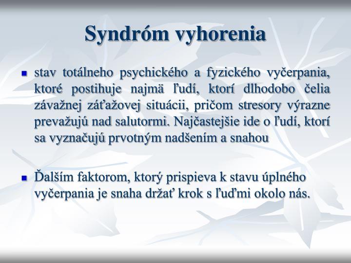Syndróm vyhorenia
