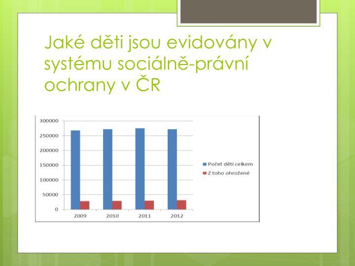 Jaké děti jsou evidovány v systému sociálně-právní ochrany v ČR