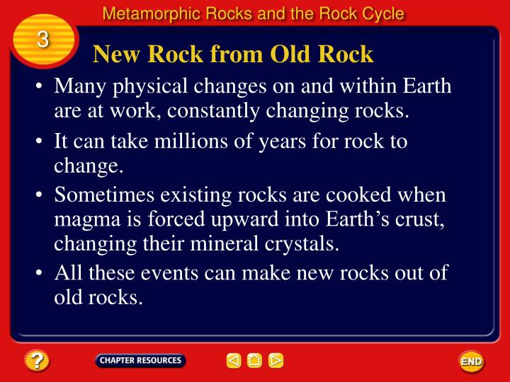 Metamorphic Rocks and the Rock Cycle
