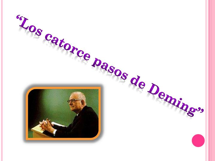 """Los catorce pasos de Deming"""