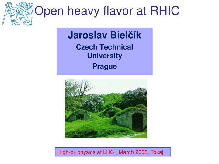 Open heavy flavor at RHIC