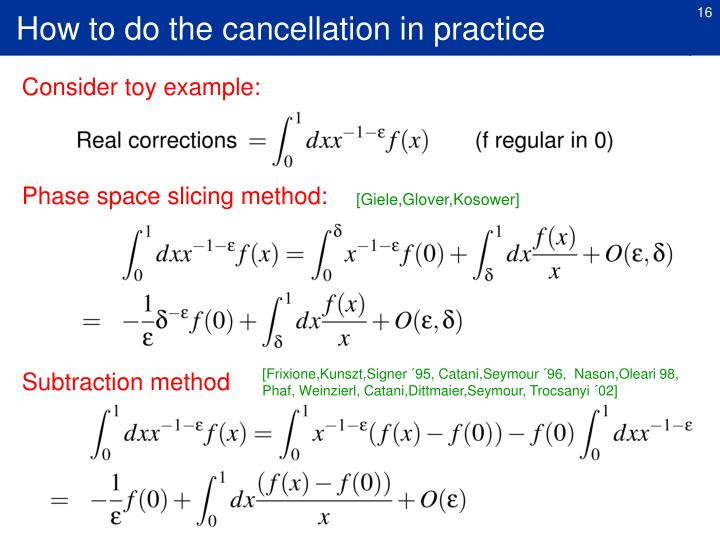 How to do the cancellation in practice