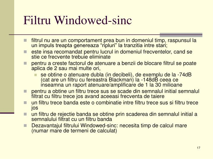 Filtru Windowed-sinc