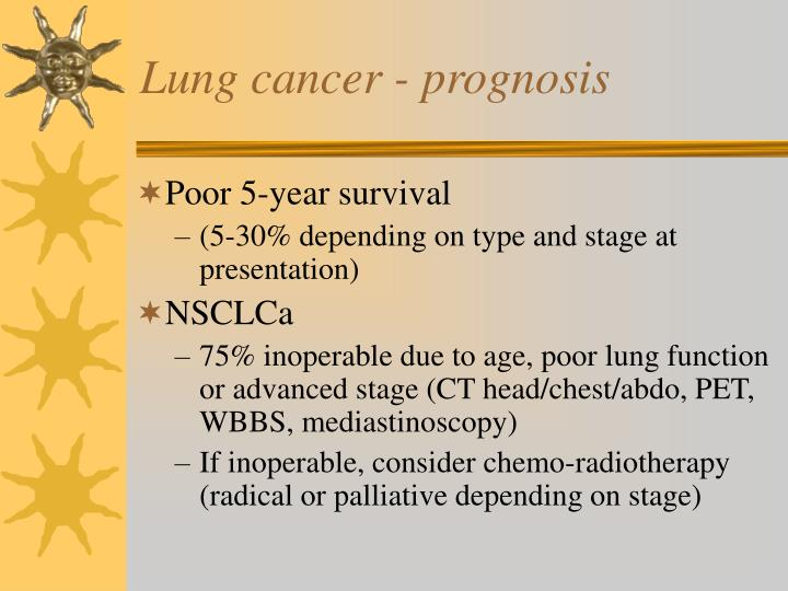 Lung cancer - prognosis