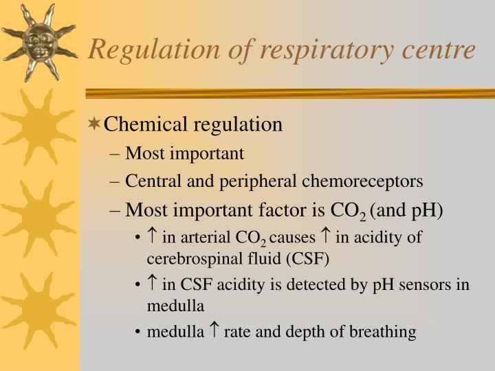 Regulation of respiratory centre
